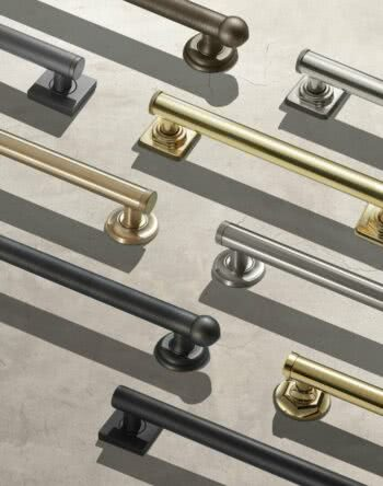 California Faucets Deluxe Grab Bars Elegantly Merge Flexible Decorative Style With Important Safety Features