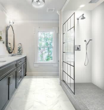 Daltile, RevoTile, Carrara White, Hi-Res