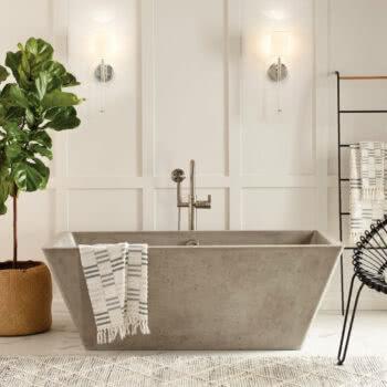 Mendocino NativeStone® Freestanding Bathtub in Ash