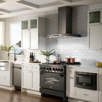 ZLINE black SS kitchen appliances