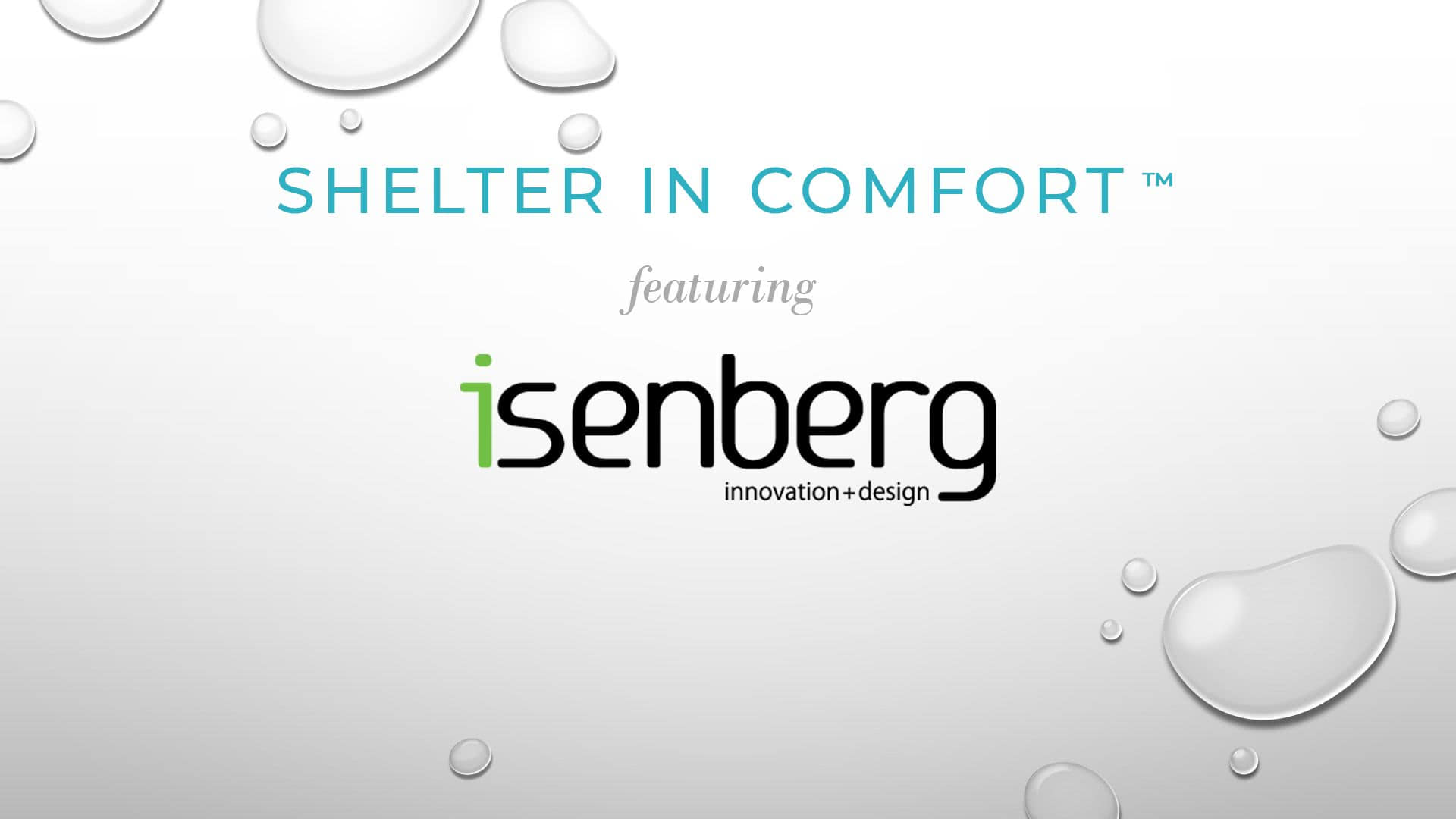 Shelter in Comfort: featuring Isenberg