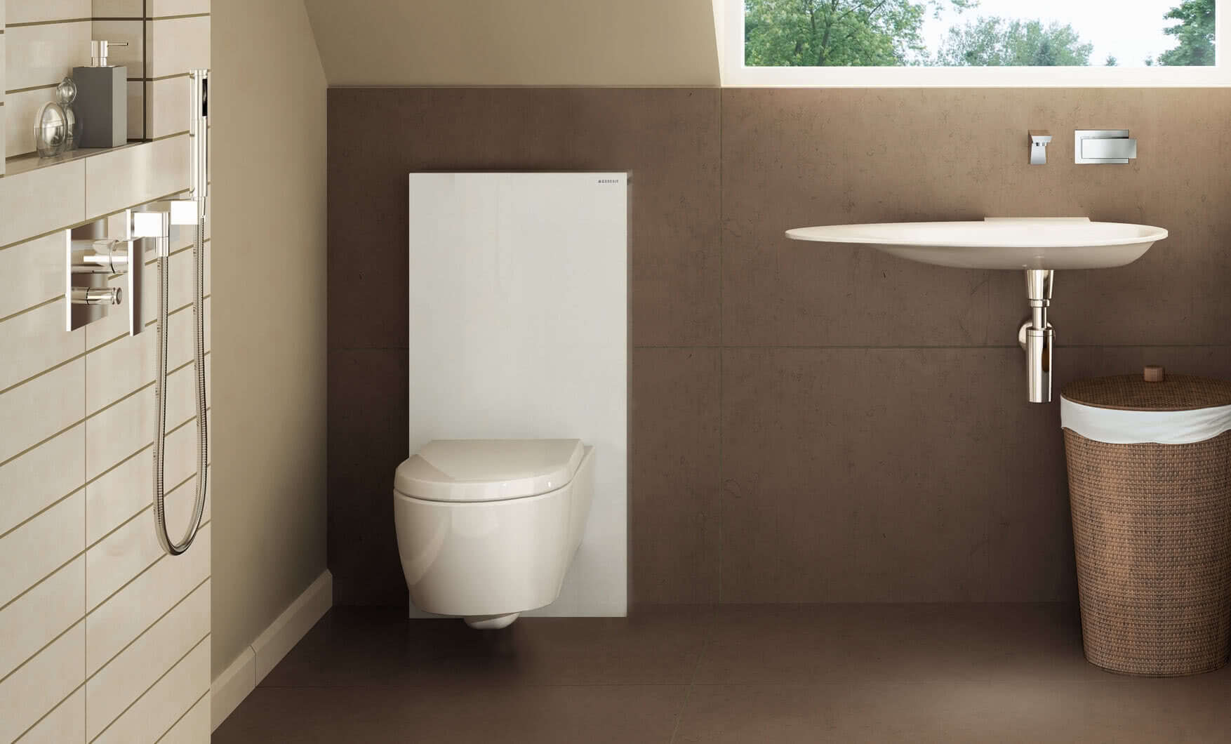 Geberit duofix frame for wall hung wc h82 with omega cistern 12cm - Geberit Monolith Wc Frame Cistern For Wall Hung Wcs White